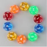 Кубик D12 прозрачный (цвет в ассортименте)