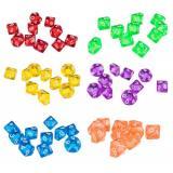 Кубик D10(0-9) прозрачный (цвет в ассортименте)