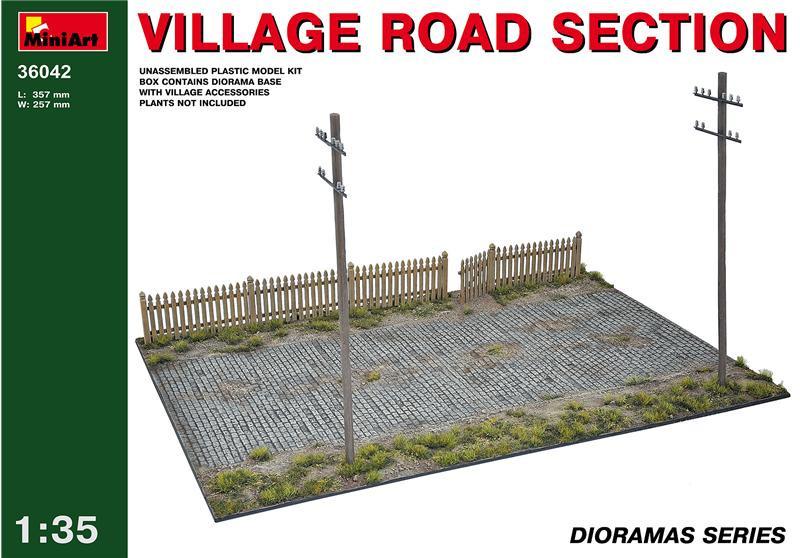 Фрагмент деревенской дороги 1:35